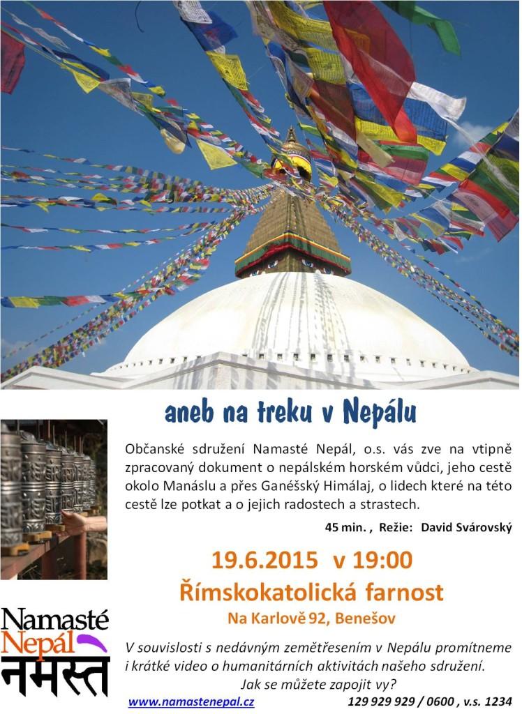 Plakát - přednáška a promítání o NEpálu