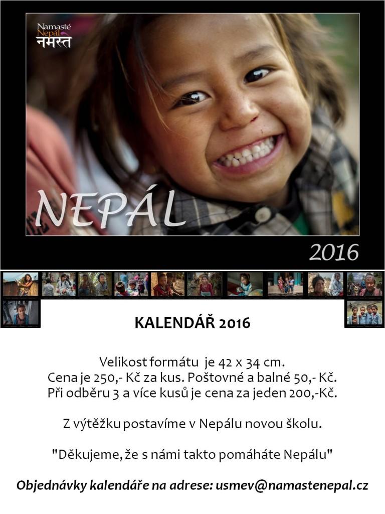 2016 kalendář Nepál