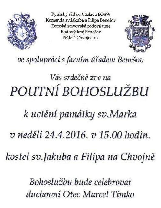 20160424 Chvojen Pouť sv Marek