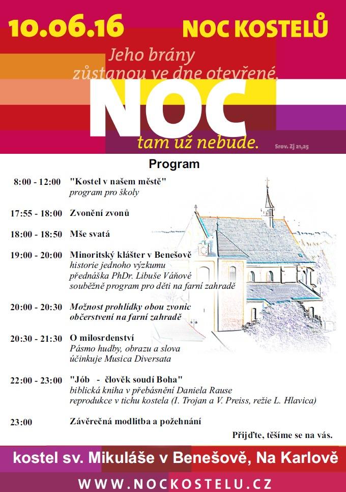 20160610 Noc kostelů program v Benešově