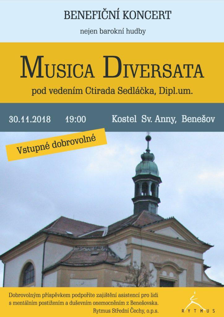 Koncert Musica Diversata @ kostel sv. Anny | Benešov | Středočeský kraj | Česko