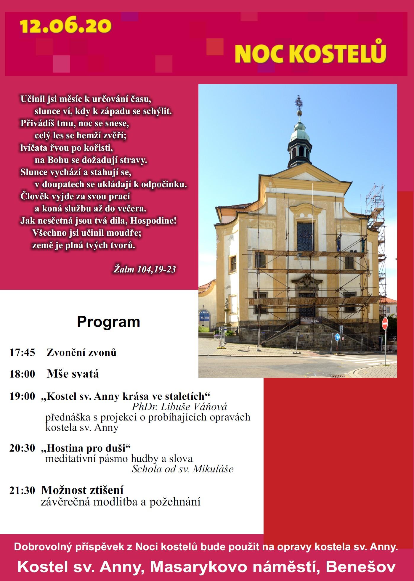 Noc kostelů 2020 @ kostel sv. Anny | Benešov | Středočeský kraj | Česko