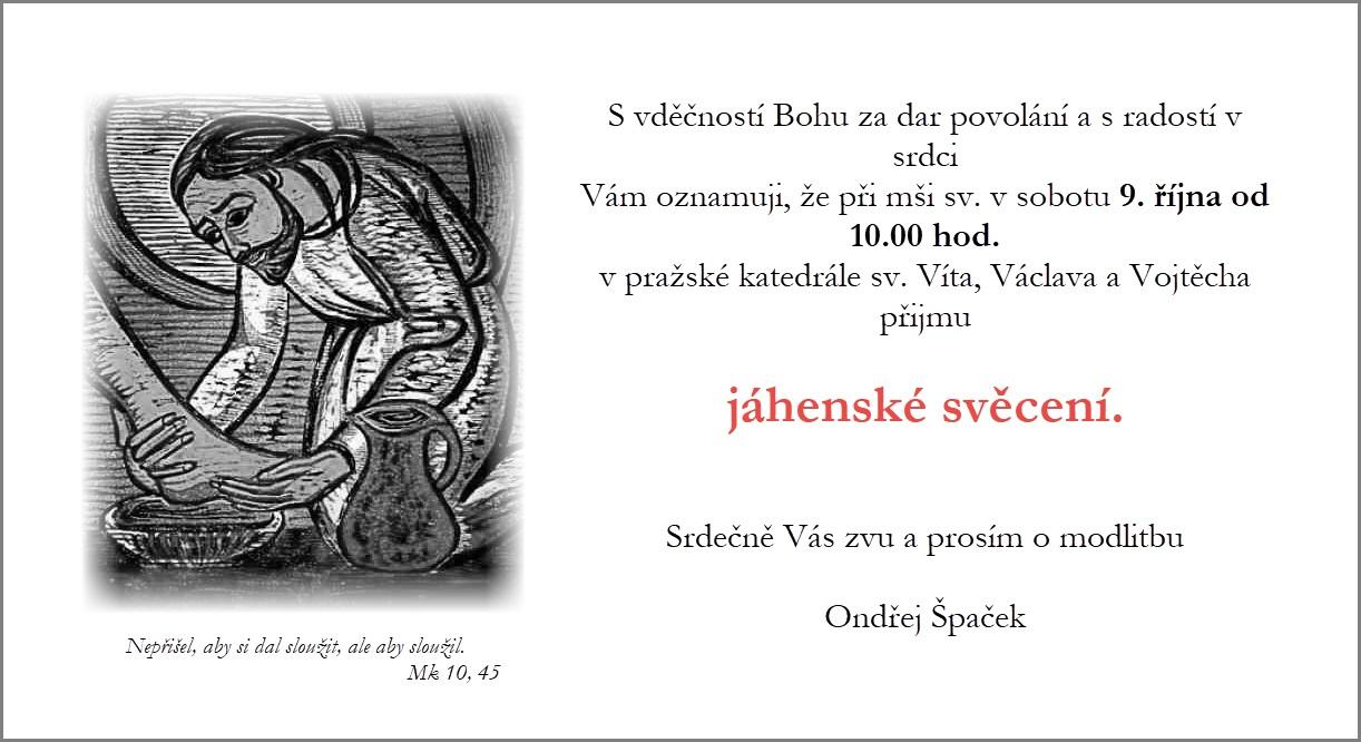 Jáhenské svěcení Ondřeje Špačka @ katedrála sv. Víta, Václava a Vojtěcha | Hlavní město Praha | Česko